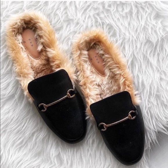Shoes - Brand New Fur Loafer Mules Final Price